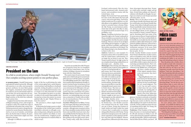 Article Preview: President on the lam, JANUARY 2021 | Maclean's