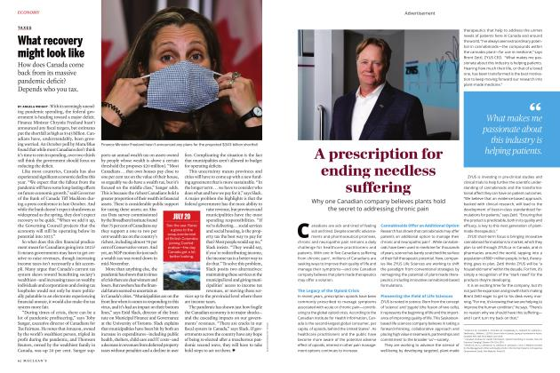 Article Preview: What recovery might look like, JANUARY 2021 2021 | Maclean's