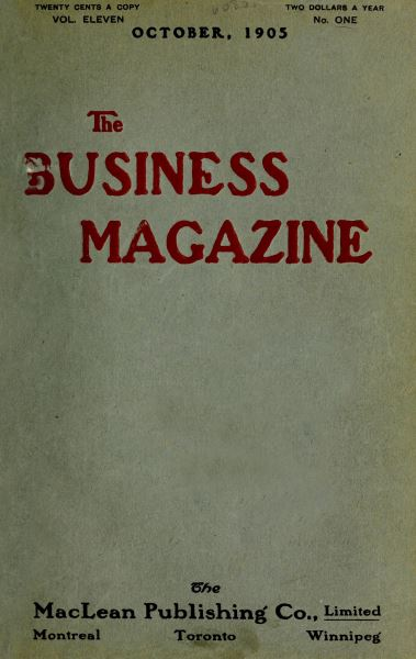 Issue: - October 1905   Maclean's