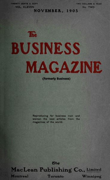 Issue: - November 1905 | Maclean's