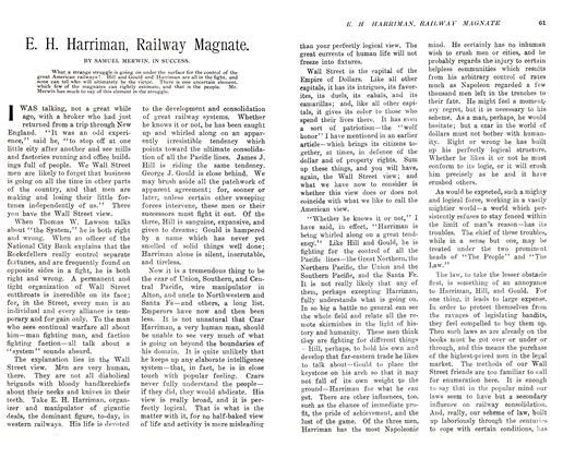 E. H. Harriman, Railway Magnate.