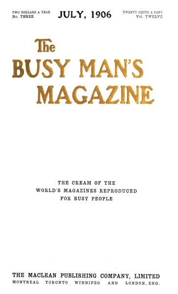 Issue: - July 1906   Maclean's
