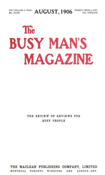 Issue: - August 1906 | Maclean's