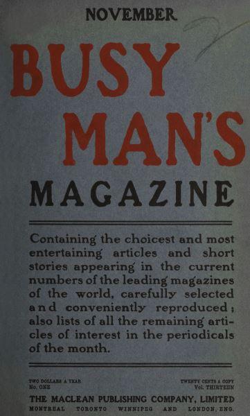 Issue: - November 1906 | Maclean's