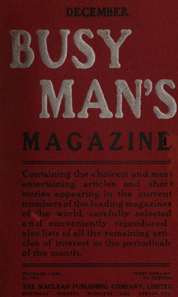 Issue: - December 1906 | Maclean's