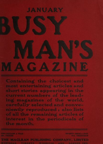 Issue: - January 1907 | Maclean's
