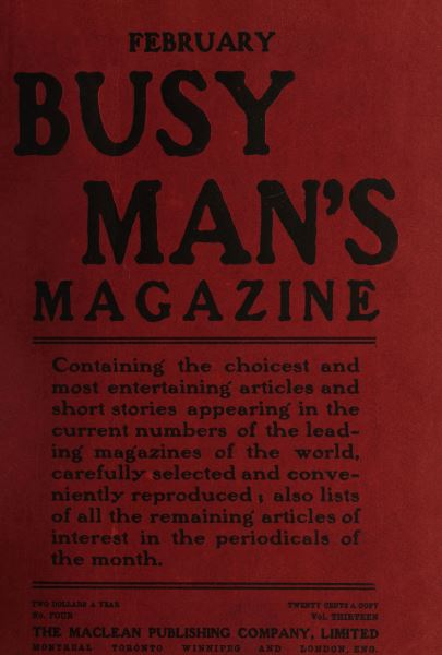 Issue: - February 1907 | Maclean's