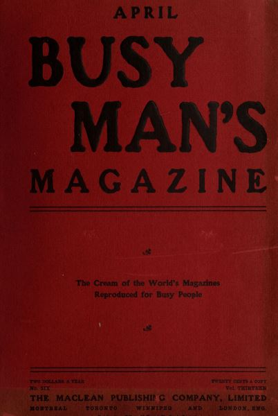 Issue: - April 1907 | Maclean's