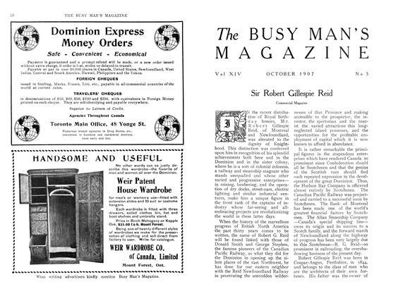 Sir Robert Gillespie Reid | Maclean's | OCTOBER 1907