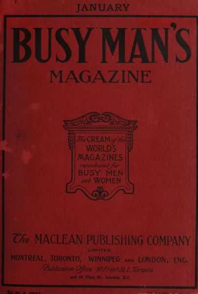 Issue: - January 1908 | Maclean's