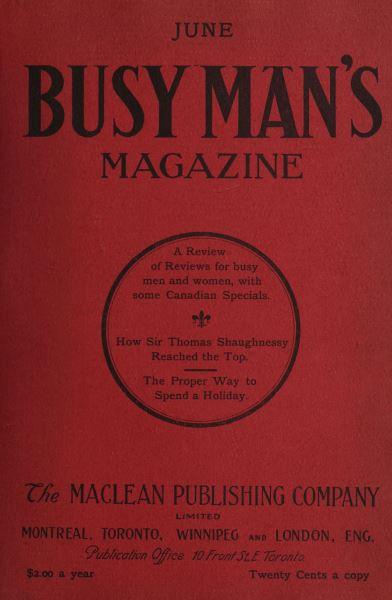 Issue: - June 1908 | Maclean's