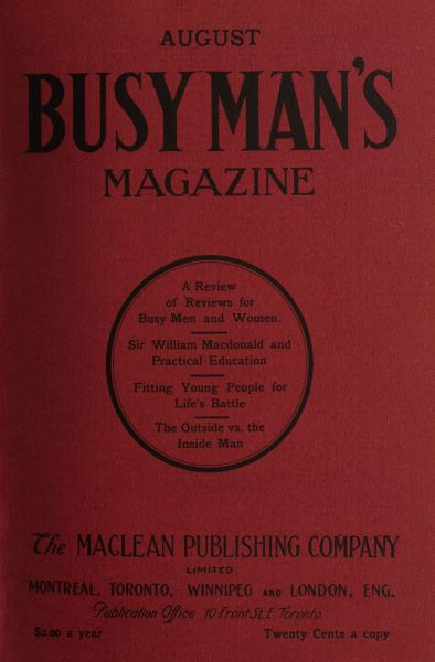 Issue: - August 1908 | Maclean's
