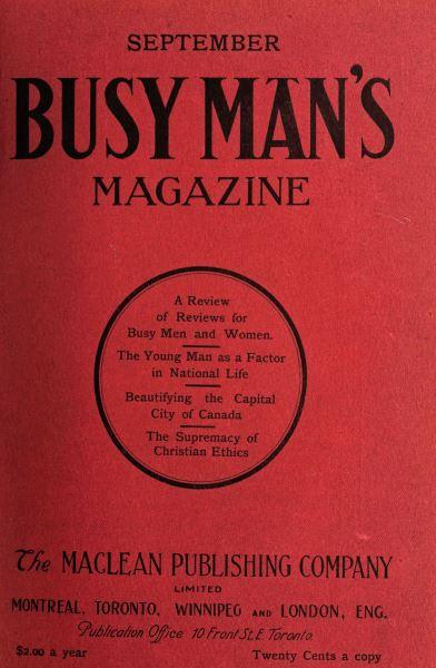 Issue: - September 1908 | Maclean's