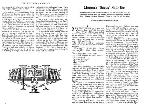 "Masterson's ""Bargain"" Motor Boat"