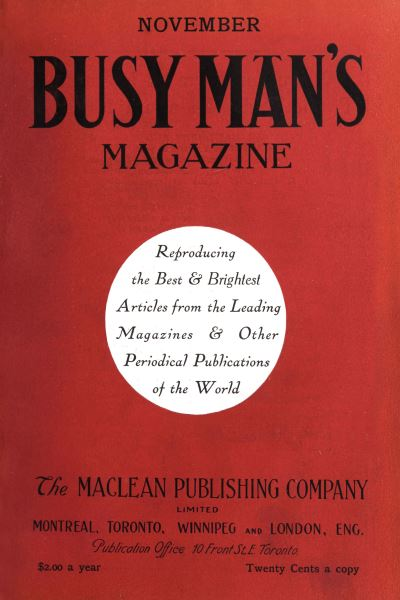 Issue: - November 1908 | Maclean's