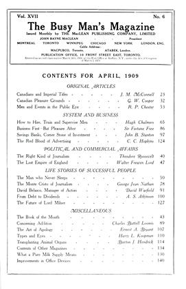 Cover for the April 1 1909 issue