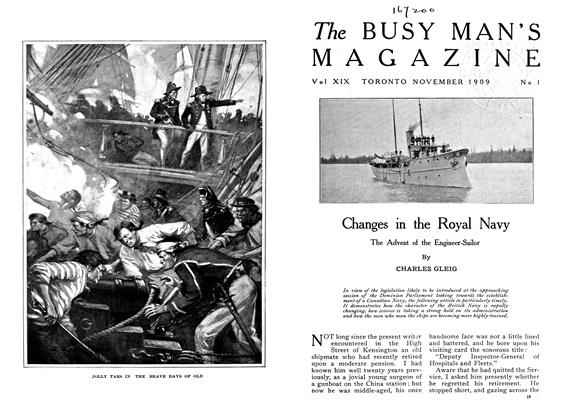 Changes in the Royal Navy