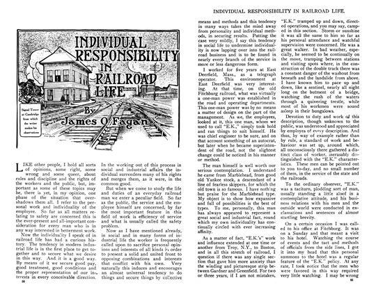 INDIVIDUAL RESPONSIBILITY IN RAILROAD LIFE