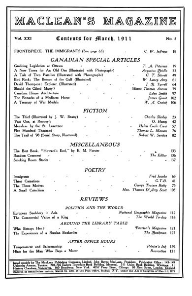 Issue: - March 1911 | Maclean's