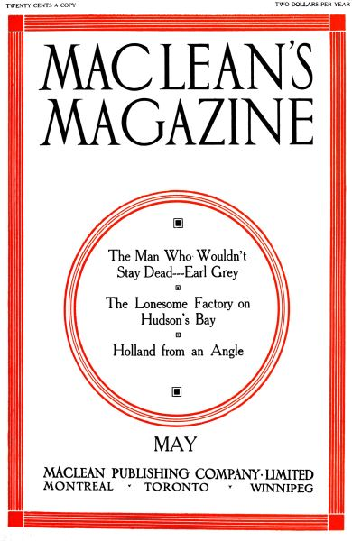 Issue: - May 1911 | Maclean's