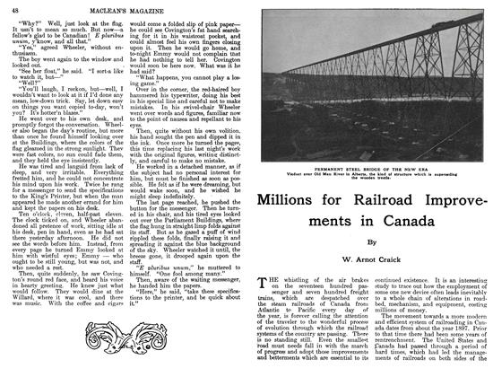 Millions for Railroad Improvements in Canada