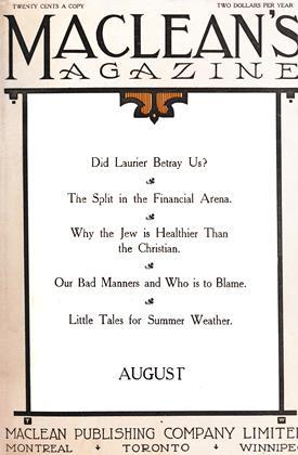 AUGUST 1911 | Maclean's