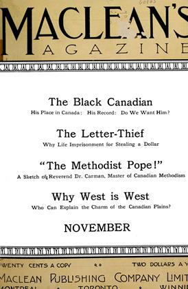 Cover for the November 1 1911 issue