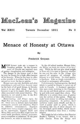 December 1911 | Maclean's