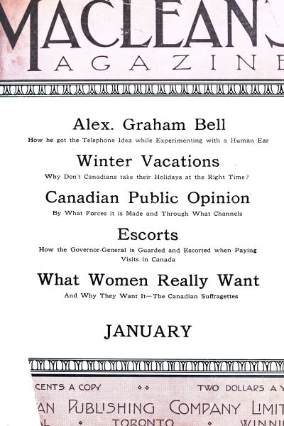 Issue: - January 1912 | Maclean's