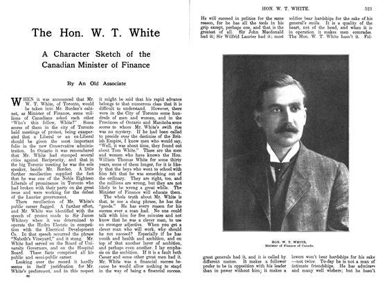 The Hon. W. T. White