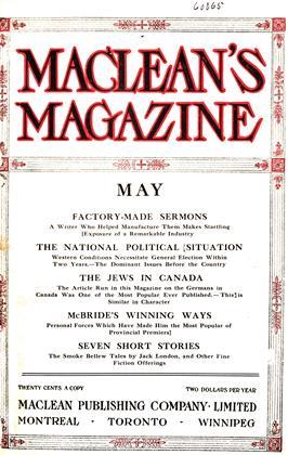 May, 1912 | Maclean's