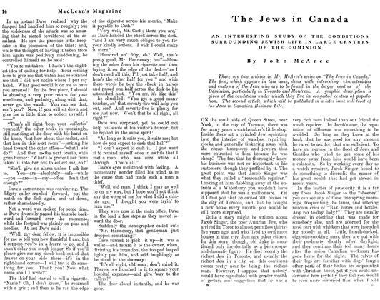 The Jews in Canada