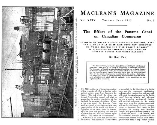 The Effect of the Panama Canal on Canadian Commerce