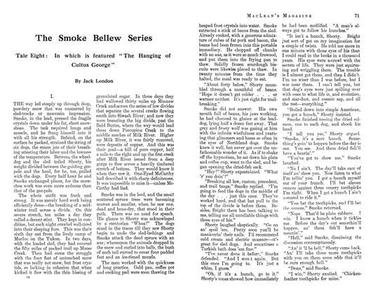 The Smoke Bellew Series