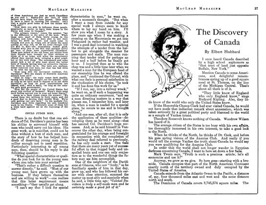 The Discovery of Canada