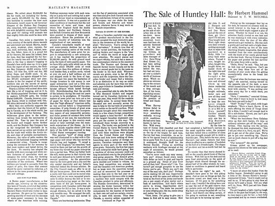 The Sale of Huntley Hall: