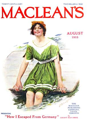 Cover for the August 1 1915 issue