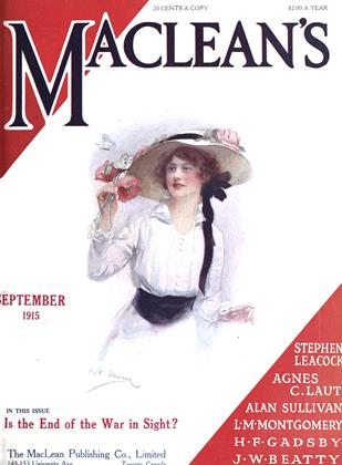Cover for the September 1 1915 issue