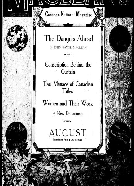 Issue: - August 1917 | Maclean's