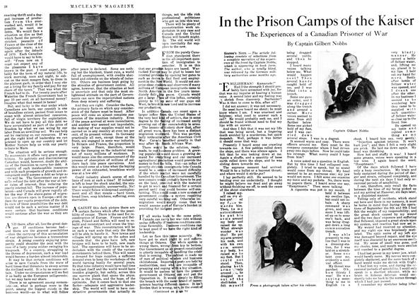 In the Prison Camps of the Kaiser