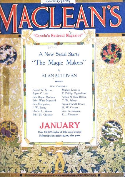 Issue: - January 1918 | Maclean's