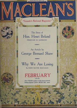FEBRUARY, 1918 | Maclean's