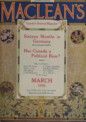 Cover for the March 1 1918 issue