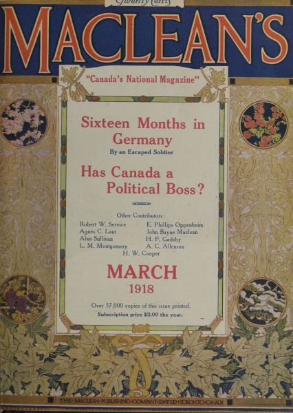 Issue: - March 1918 | Maclean's
