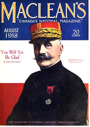 Cover for the August 1 1918 issue