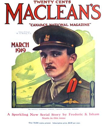 Cover for the March 1 1919 issue