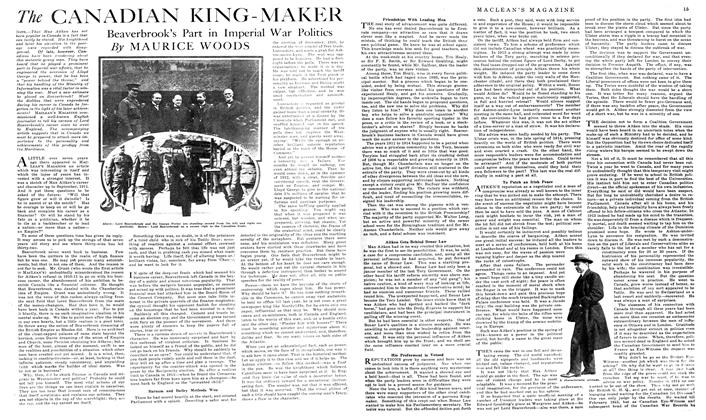 The CANADIAN KING-MAKER