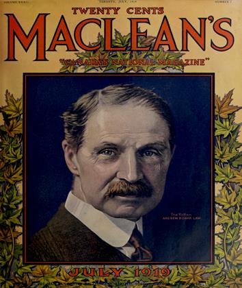 Cover for the July 1 1919 issue