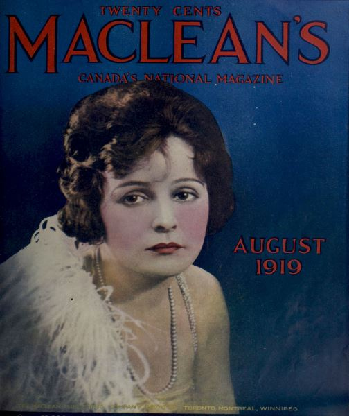 Issue: - August 1919   Maclean's