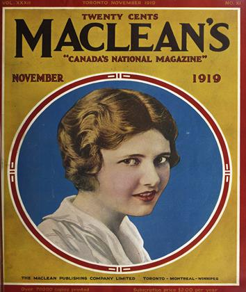 Cover for the November 1 1919 issue